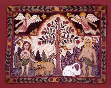 Amazing Adam And Eve Rug   Sold