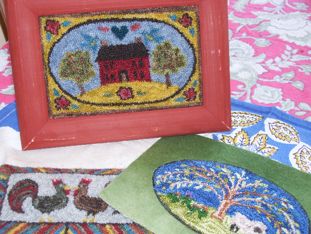 Miniature Punch Needle Hooked Rugs J Conner Hooked Rugs